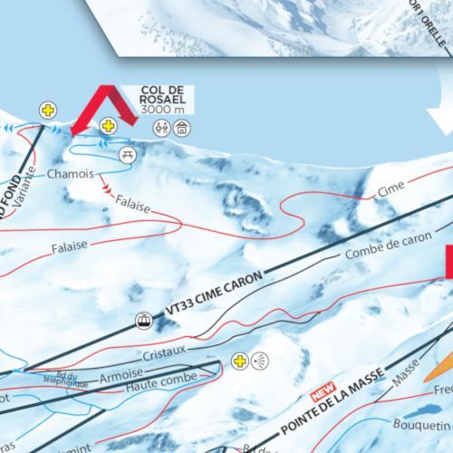 Val Tns ski map - Val Tns ski resort - Interactive ski map ... Map on