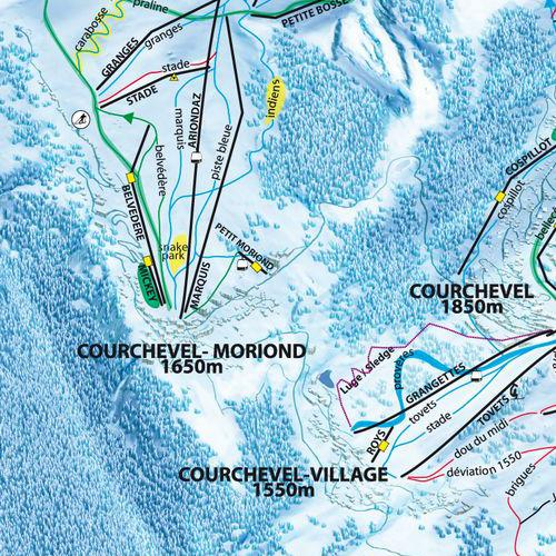 Ski Map Courchevel The 3 Valleys