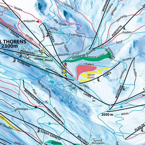 Internet SETAM VAL THORENS Ski area map