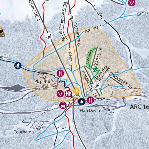 Piste map Les Arcs