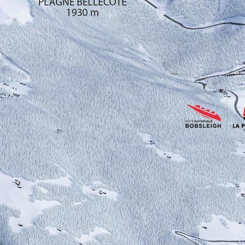 Slope and ski lift information La Plagne La Plagne ski resort