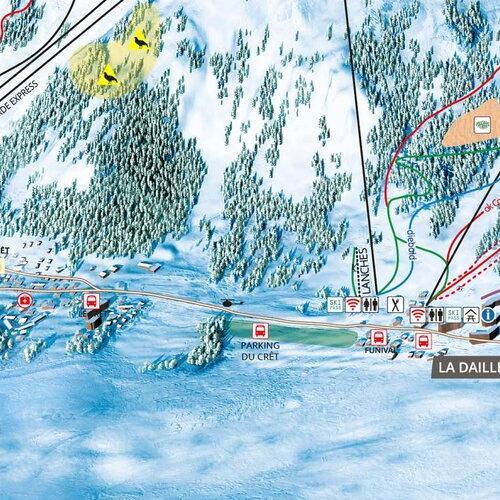 Tignes Val dIsre Ski map Tignes Huge ski area French Alps